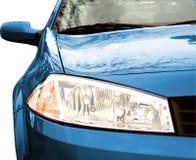 Blue Sport Car - Front side, half Stock Image