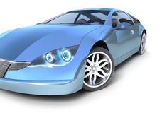 Blue sport car . My own design Stock Photos