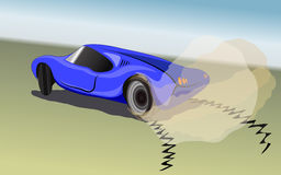 Blue sport car Royalty Free Stock Image