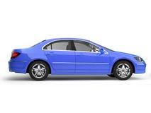 Blue sport car side view vector illustration