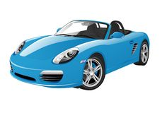 Blue sport car. On a white background Stock Photography