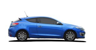 Blue sport coupe Stock Photos