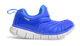 Blue sport running shoes isolated Stock Photos