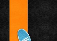 Blue sport shoe Royalty Free Stock Image