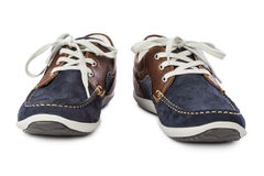 Blue sport shoes Royalty Free Stock Photography