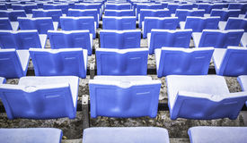 Blue sports arena seats Stock Photography