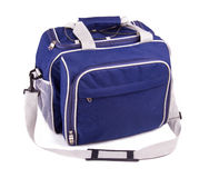 Blue sports bag Royalty Free Stock Photos