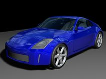 Blue sports car Royalty Free Stock Photography