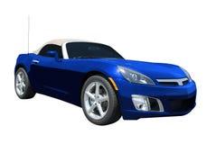 Blue Sports Car stock image