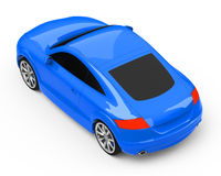 The blue sports car Stock Images