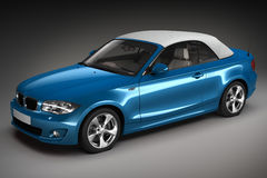 Blue Sports car.  3d render. Sports car.  3d render. See my other works in portfolio Stock Photography