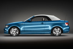 Blue Sports car.  3d render Royalty Free Stock Photos