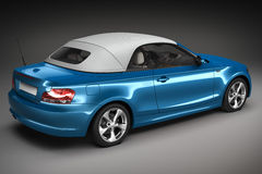 Blue Sports car.  3d render Stock Images