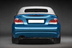 Blue Sports car.  3d render Royalty Free Stock Image