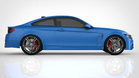 Blue Sports car. 3d rendering. Blue Sports car. 3d rendering Stock Photo