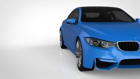 Blue Sports car. 3d rendering. Blue Sports car. 3d rendering Stock Photography
