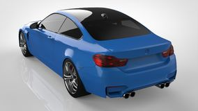 Blue Sports car. 3d rendering. Blue Sports car. 3d rendering Stock Image