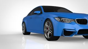 Blue Sports car. 3d rendering. Blue Sports car. 3d rendering Stock Images