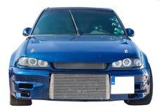 Blue sports car Stock Photos