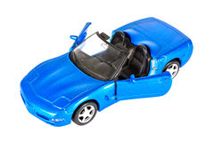 A blue sports car Royalty Free Stock Images