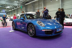 Blue sports car, Porsche 911 Targa Stock Photography