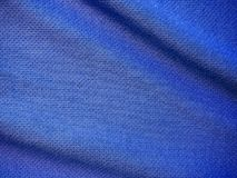 Sports clothing fabric jersey texture. Blue sports clothing fabric jersey texture Stock Photo