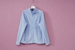 Blue sports jacket Royalty Free Stock Photos