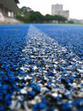 Blue Sports Running Track Royalty Free Stock Photography