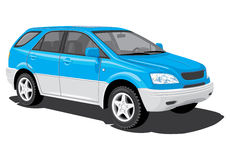 Blue sports utility vehicle Royalty Free Stock Photo