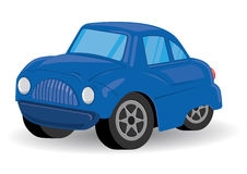 Blue Sports Utility Vehicle Car Cartoon - Vector Stock Images