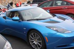 Blue sportscar Stock Images