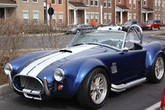 Blue sportscar Royalty Free Stock Photo
