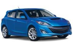 Blue Sporty Economical Car Stock Image
