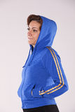 Blue sporty jacket Royalty Free Stock Photos