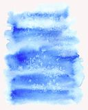 Blue spot. Abstract watercolor background. Royalty Free Stock Images