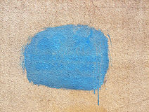 Blue spot of paint Royalty Free Stock Image