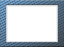 Blue spot picture frame Royalty Free Stock Image