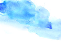 Blue spot, watercolor abstract Royalty Free Stock Images