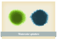 Blue spot, watercolor abstract background Royalty Free Stock Photo