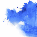 Blue spot watercolor Royalty Free Stock Images