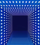 Blue spotlight hallway corridor Royalty Free Stock Photography