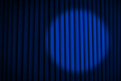 Blue Spotlight Stage Curtains Royalty Free Stock Image