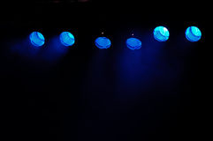 Blue spotlights Royalty Free Stock Images