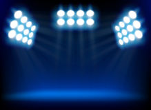 Blue spotlights. Stock Photos