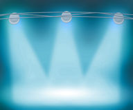 Blue Spotlights Background Royalty Free Stock Photography