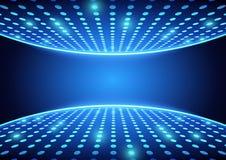 Blue Spotlights Background. Blue Spotlights Dance Floor - Abstract Background Illustration, Vector Royalty Free Stock Photos