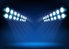 Blue spotlights on stage Royalty Free Stock Photography