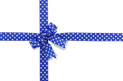 Blue spotted bow Royalty Free Stock Photography
