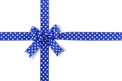 Blue spotted bow Stock Image