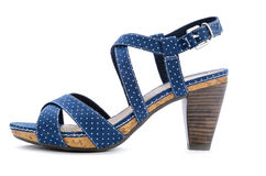 Blue spotted sandal Royalty Free Stock Images